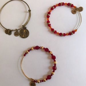 Alex and Ani Path of Life and 2 Red Bracelets